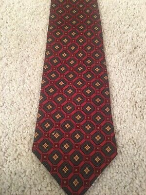 Beooks Brothers Red Green & Gold Men's Tie 100% Silk Made In USA EUC