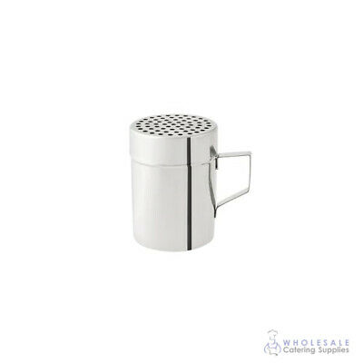 Cheese Shaker w Handle 285mL Stainless Steel Coarse Salt Pepper Herb Dredge