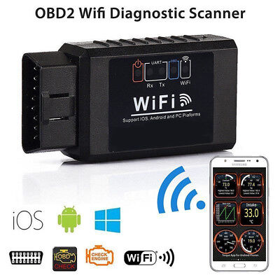 OBD2 Elm327 WIFI Auto Car Scanner iPhone Android Torque Diagnostic Scan Tool