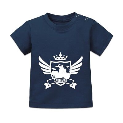 Drummer Winged Baby T-Shirt