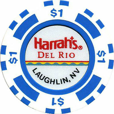 HARRAH'S DEL RIO $1 Casino Chip Laughlin Nevada USA. **MINT**
