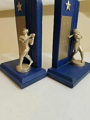 Baseball Wood Book Ends