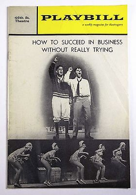 46th St Theatre Playbill How To Succeed In Business Without Really Trying - Play