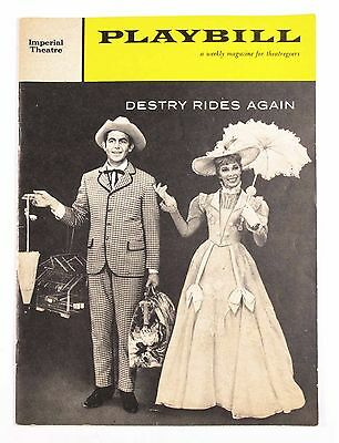 Vintage May 1960 Imperial Theatre Playbill Program - Destry Rides Again Play