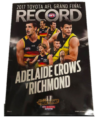 2017 AFL GRAND FINAL FOOTY RECORD ADELAIDE CROWS v RICHMOND TIGERS