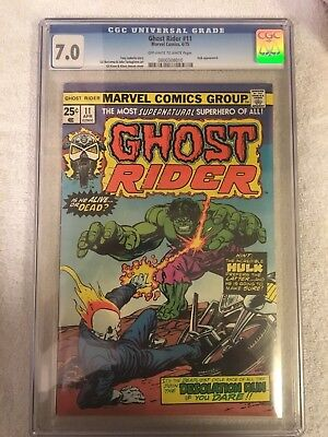 Ghost Rider 11 Cgc 7.0 White Pages