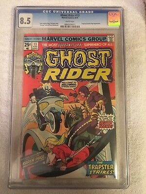 Ghost Rider 13 Cgc 8.5 White Pages