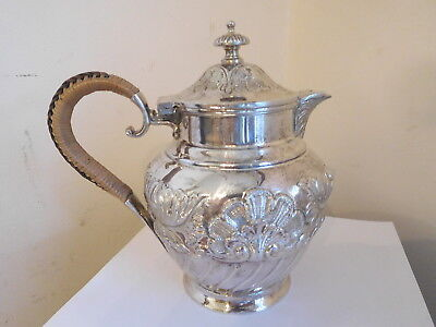 """*found* Antique Ornate Repousse Unused Silver Plate""""epbm Barker Bros Teapot#8463"""
