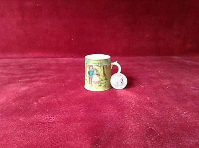 "Antique Miniature Porcelain Mug  ""babes In The Wood"""