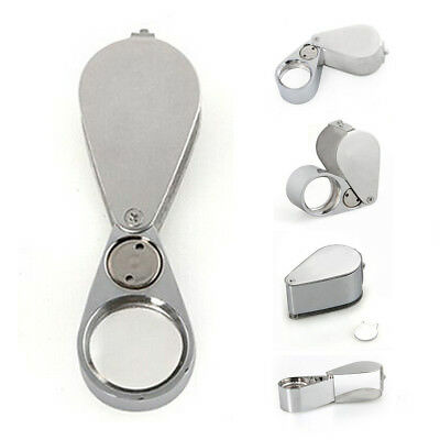 T8 30X Jeweler Eye Loupe Loop Magnifying Magnifier 30x21mm with LED Light S7G9