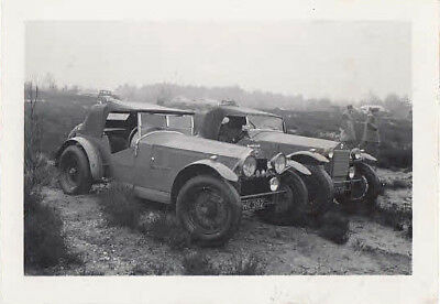 Two Lancia Pre-War Tourers Small Size Photograph.