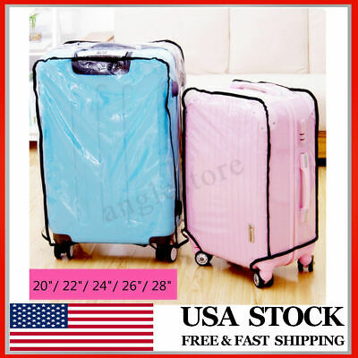Waterproof Clear Transparent Luggage Suitcase Cover Case Protector Travel 20-28""
