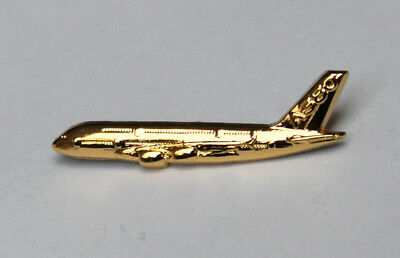 Pin Airbus A380 Sideview Pin 30mm Gold for Pilots Crew 380