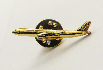Pin Airbus A330 Sideview 30mm Pin Gold for Pilots Crew 330