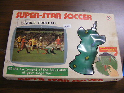 Vintage Super Star Soccer Table Game in good condition