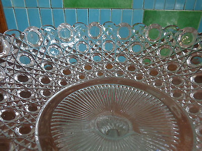 Beautiful Pressed Glass Hobnail Compote