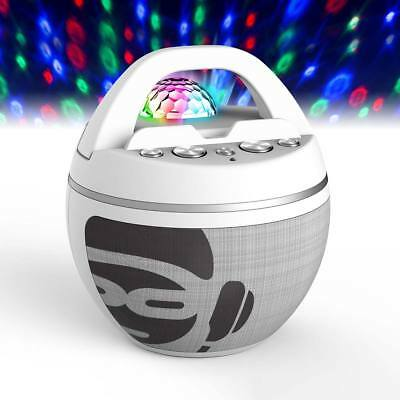 iDance Bluetooth Karaoke System with Built in Light Show in White