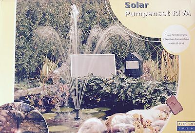 solar pumpe teichpumpe mit akku springbrunnen brunnen garten teich wasserspiel eur 16 29. Black Bedroom Furniture Sets. Home Design Ideas