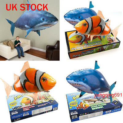 Remote Control Inflatable Balloon Air Swimmer Flying shark Fish Radio Blimp Toys