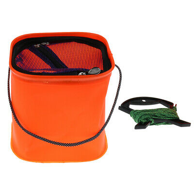 Collapsible Water Bucket Fishing Tackle Fish Pail Baits Lure Case Wash Basin