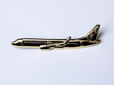 Pin Boeing 737 Sideview 45mm Pin Gold for Pilots Crew B737