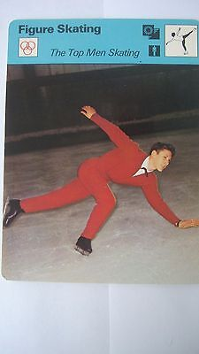 Rare Sportscaster Rencontre Collectable Card Figure Skating Top  Men Skating