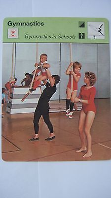 Rare Sportscaster Rencontre Collectable Card Gymnastics In Schools