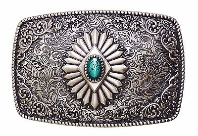 Southwest Rectangle Cowboygürtelschnalle Western Buckle Rodeo Ready