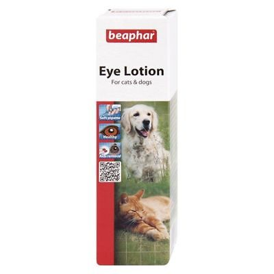 Beaphar Eye Lotion for Cats & Dogs Soothes Irritation Cleans Removes Tear Stains