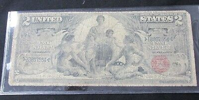 Series 1896 $2 Educational Silver Certificate Note Bruce-Roberts