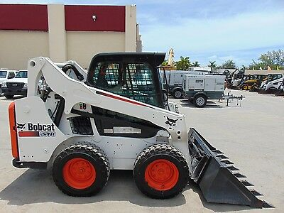 "2013 Bobcat S-570 ""enclosed Comfort Cab"" Wheel Loader - Bob Tach Hyd Coupler"
