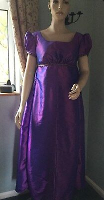 Regency Dress, Jane Austen, Taffeta, Size 16, Free P&P