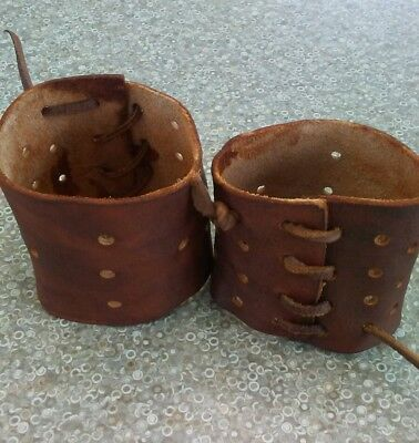 Leather, wrist cuffs, bracelets, gauntlets, steampunk, old west, medieval