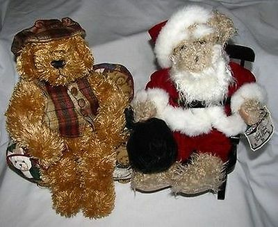Avon Christmas Hat Box Teddies Teddy Bears Mixed Lot of 2 Chester & Nicholas EUC