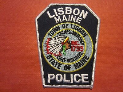 Collectible Maine Police Patch, Lisbon,New