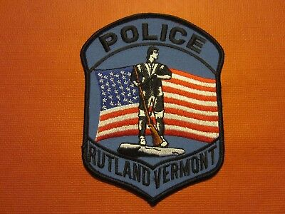 Collectible Vermont Police Patch, Rutland, New