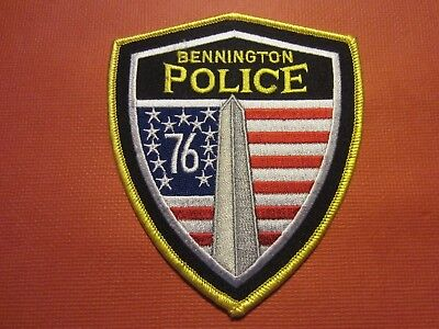 Collectible Vermont Police Patch, Bennington, New