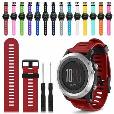 Fitness Replacement Silicone Strap Watch Bands For Garmin Fenix 3 /Fenix 3 HR UK
