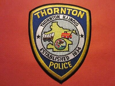 Collectible Illinois Police Patch, Thornton, New