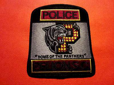 Collectible South Carolina Police Patch, Pelion, New