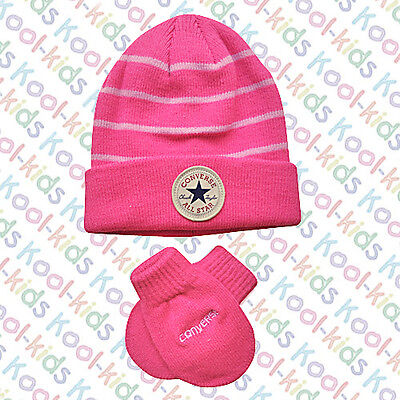 Converse Chuck Taylor Baby Girls Hat & Mittens BNWTS