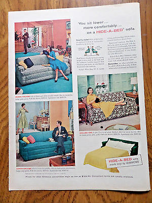 1956 Simmons Ad  Hide-A-Bed Sofa