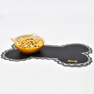 Pet Dog Cat Placemat Dish Bowl Feeding Water Food Mat Puppy Wipe Clean Floor