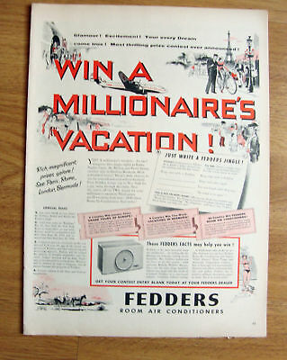 1954 Fredders Room Air Conditioners Ad