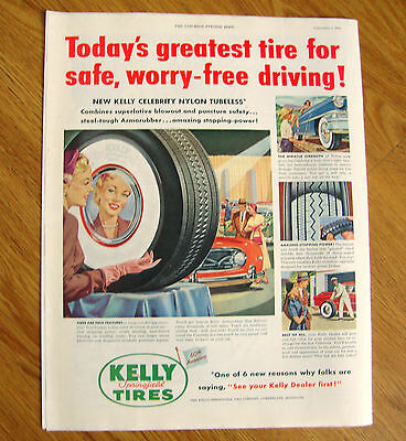 1954 Kelly Tires Ad 60th Anniversary