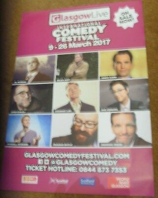 Glasgow Comedy Festival 2017 A3 poster comedians Jupp Carr Boyle Murray Lee