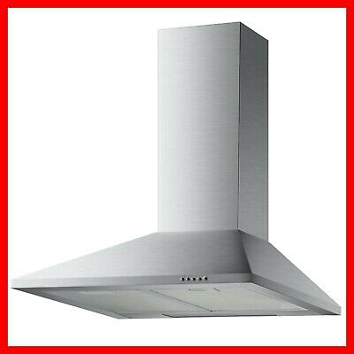 Econolux REF28368 60cm Slimline Chimney Cooker Hood Extractor in Stainless Steel