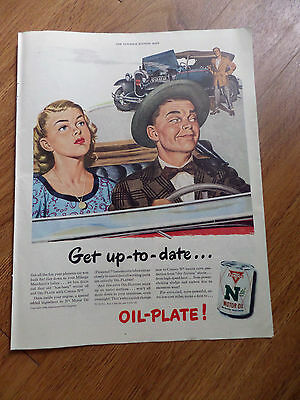 1948  Conoco Continental Oil Company Ad Nth Motor Oil  Get Up to Date