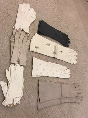 NEW Lot Of Vintage Leather Gloves From Paris. Pre-owned Small Sizes