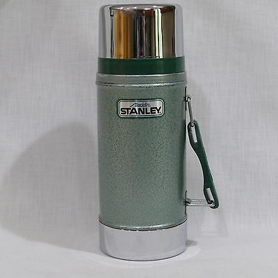 Stanley Aladdin Steel Thermos U.S.A. ~ No. A-1350B Wide Mouth 24 Oz. D88